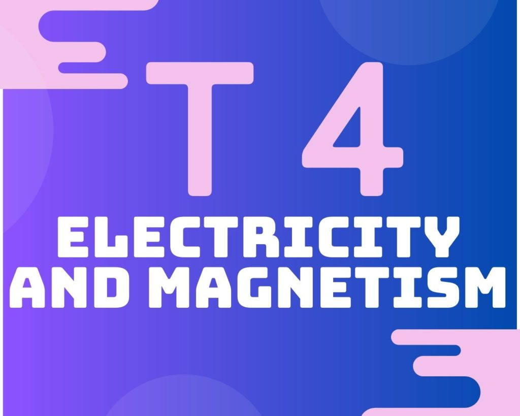 Topic 4 Electricity and Magnetism